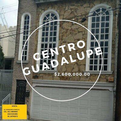 ***VENTA CASA 2 PISOS CENTRO DE GUADALUPE $2,300,000 , 4 REC., 154 m. terr.,  295 m const. ***