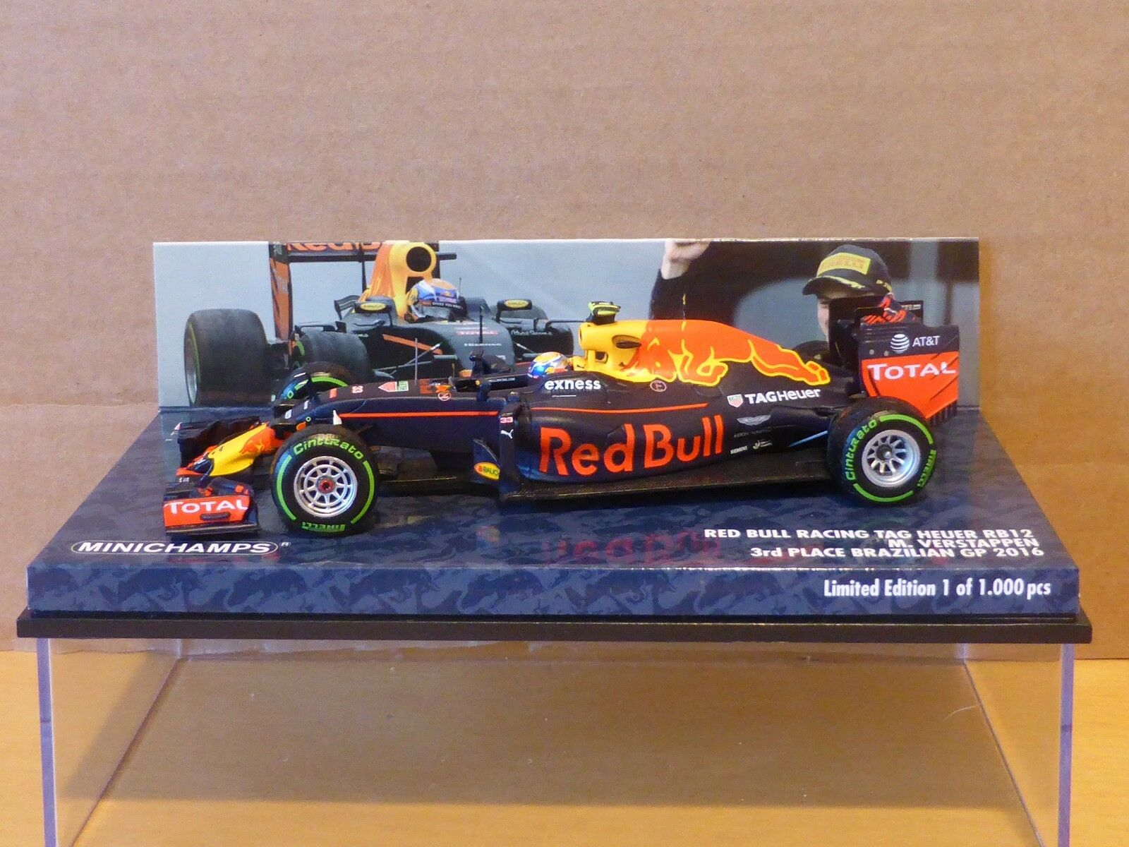 Minichamps 1 43 Max Verstappen Red Bull RB12 Brazilian GP 2016 F1 limited