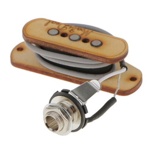 2 Satz 3 String Magnet Pickup Mit Eingangsbuchse Für Zigarrenbox Gitarrenteile