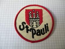 ST. Pauli Aufnäher aus den 80er  Rund durchmesser ca. 8 cm  siehe auch Fotos