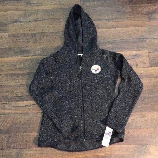 c2095d7a1 NFL Pittsburgh steelers Hoodie Jacket Women s Medium Black
