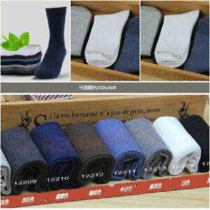 New-Lot-of-3-Pairs-Men-039-s-Business-Dress-Socks-Combed-Cotton-OneSize