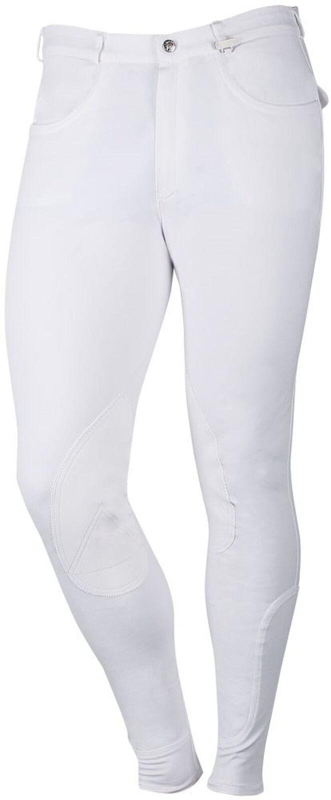 Harry's Horse señores reithose Gentle piel sintética-ribete de rodilla 6 tamaños Weiss