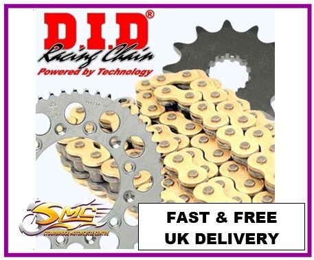 YAMAHA WR125R/X 2009-16 DID OE Gold/Black Chain & Sprocket Kit FREE CHAIN LUBE