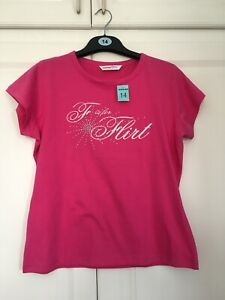 Ladies-Novelty-T-Shirt-Top-Size-14-New