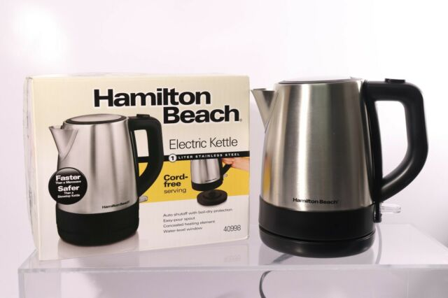 Hamilton Beach 1 Liter Electric Kettle For Tea And Hot Water, Cordless, Auto-Off