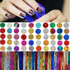 50Pcs/set Nail Art Foil Decal 4*20cm Manicure Colorful Shimmer Starry Sky Tips