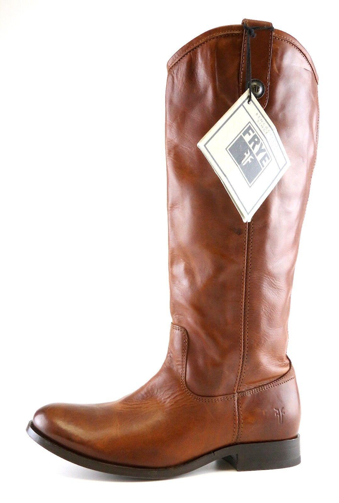 Frye Melissa Button Leather Riding Boot Brown Women Sz 7.5 B 6727 *