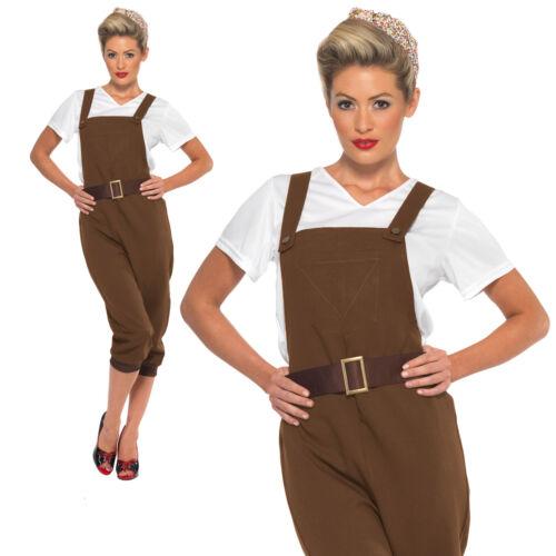 WW2 Land Ragazza Costume 1940 S Army munizioni Donna Costume Vestito