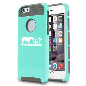 For-iPhone-X-XS-Max-XR-6-7-8-Plus-Shockproof-Hard-Case-Cowgirl-Pray-Cross-Horse