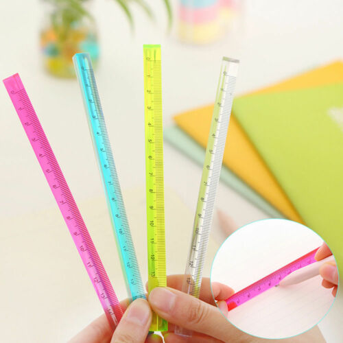 20cm Triangular Clear Coloured Ruler For Architects Engineers Scale Rulers Tools