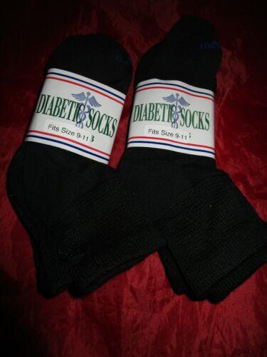 6 Pair MediPeds Diabetic Socks Non Binding Quarter Black Medium Coolmax Socks