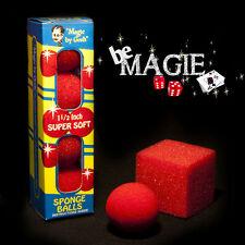 Lot balles MOUSSE - 4 balles goshman + 1 tour balle en cube - magie - éponge