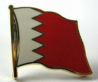 Bahrain Flags Pin Badge 0 5/8in New With Pressure Lock Neither Too Hard Nor Too Soft