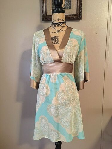 LVL X Sundress Sz Small Sheer Swimsuit Cover Satin