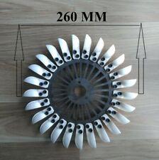 Ext.Dia=200mm 7.88inch,Flange Pelton Hydro Turbine Plastic Spoon Water Wheel