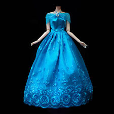 New Blue Fashion Princess Party Dress/Evening Clothes/Gown For Barbie Doll Gifts