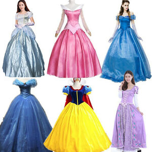 Adult Fairy Tale Cinderella Princess Dress Halloween Cosplay Fancy Party Dress Fast Color Home