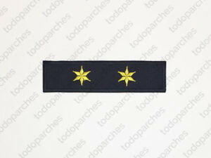 Parche-bordado-2-ESTRELLAS-6-PUNTAS-Teniente