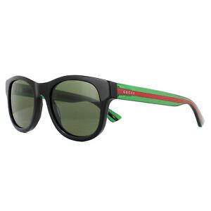 f90a0ebc46 Gucci Sunglasses GG0003S 002 Black Green Red Green 889652047188 | eBay