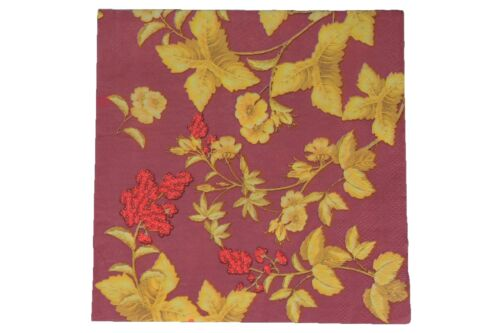 40ct Tea Party Beverage Luncheon Paper Napkins Floral Cherry Blossom Maple