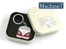 VW Camper Key Ring Official Volkswagen Splitscreen Red Metal Keyring T2 Van Gift