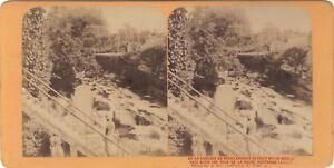 Cascade Da Grésy Francia Savoia Foto J.Andrieu Stereo Vintage Albumina Ca 1868