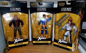 Marvel Legends Lot - Cyclops (Rare, Red Hot), Wolverine, Shatterstar NO BAF