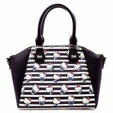 Hello Kitty Overalls Making Faces Print Satchel Handbag Purse by Loungefly NEW!