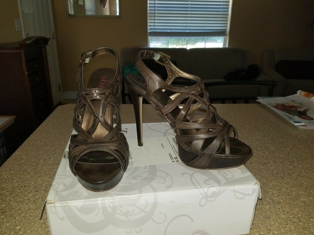 Shi by Journeys, braun braun braun   Open Toe High Heel schuhe Größe 9 e4f604