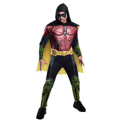Adult Mens Deluxe Robin Arkham Knight Batman Fancy Dress Halloween Costume