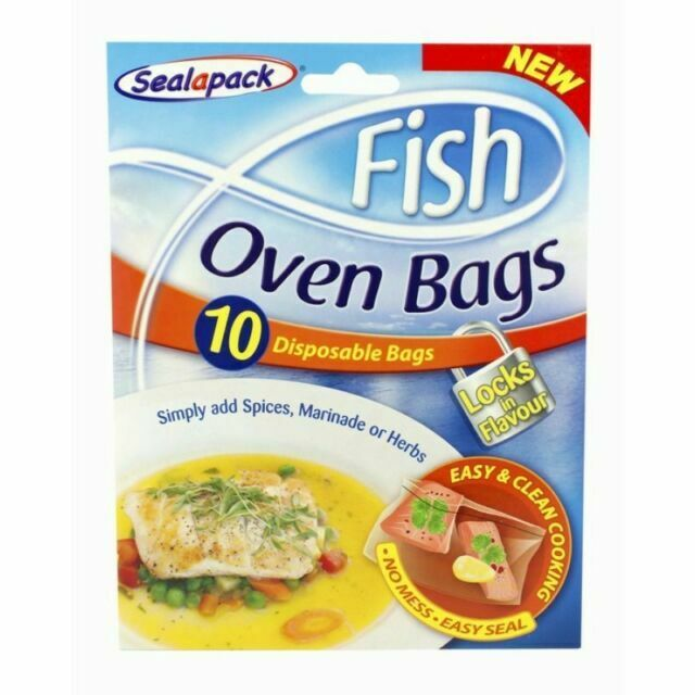 Sealapack No Mess Easy Seal Disposable Fish Oven Bags Easy Clean Cooking