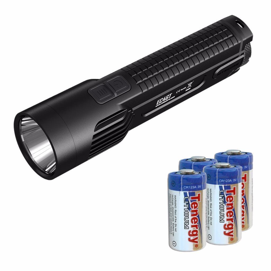 Nitecore EC4GT 1000 Lumens 519 Yards Throw LED Flashlight  w  4x CR123A Batteries  top brands sell cheap