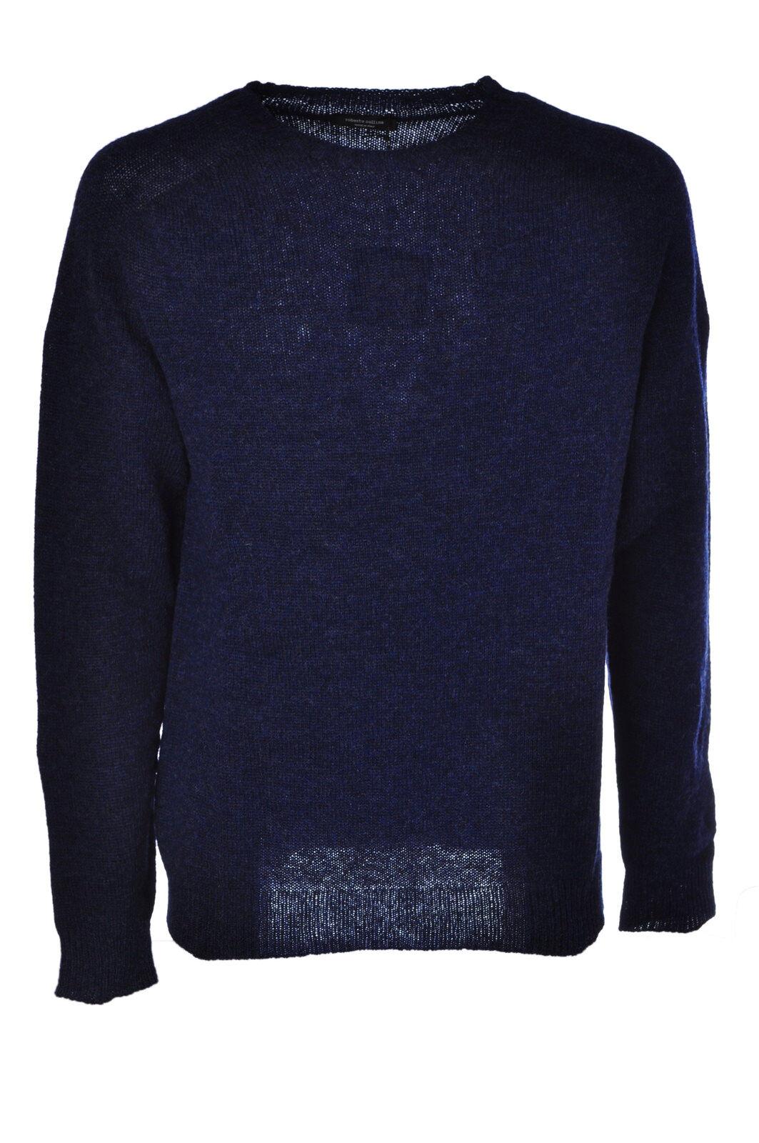 Roberto Collina - Knitwear-Sweaters - Man - bluee - 475115C181056