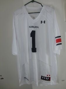 best loved 3398f 26a5e Details about Under Armour - Auburn Tigers White Football Jersey #1 - Mens  sz. S * NWT