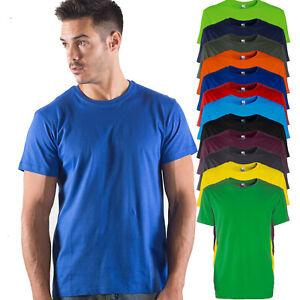 T-Shirt-Da-Lavoro-Uomo-Maglietta-Cotone-Ideale-da-Stampare-Black-Spider-BS010
