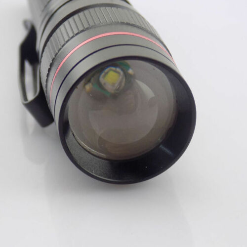LED Flashlight zoom torch Portable Lamp Q5 small pocket focus AA 14500 battery