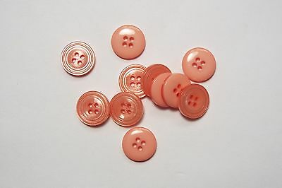 10pc 14mm Salmon Pink Shirt Blouse Cardigan Children Baby Sewing Buttons 0179