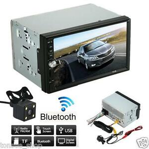 Double 2 Din Bluetooth Car Stereo MP5 MP3 Player Radio USB AUX Parking Camera