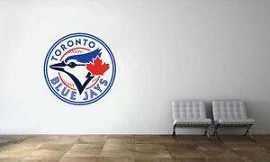 Image is loading Toronto-Blue-Jays-Logo-Wall-Decal-MLB-Baseball- & Toronto Blue Jays Logo Wall Decal MLB Baseball Sport Decor Mural ...