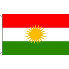 Kurdistan Flag 5Ft X 3Ft Kurdish Kurds Asia Banner With 2 Eyelets New