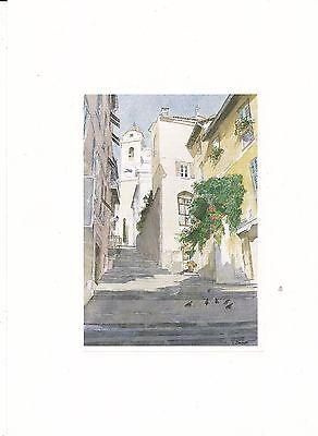 NEUF CARTE ART PRINT LUTEC EDITION VILLEFRANCHE SUR MER 20 x 15 CM
