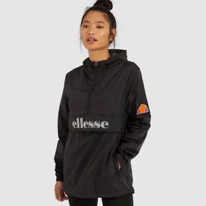 Ellesse-Womens-Jacket-Waterproof-Toccio-Black-Hooded-Lightweight-6uk-Overhead