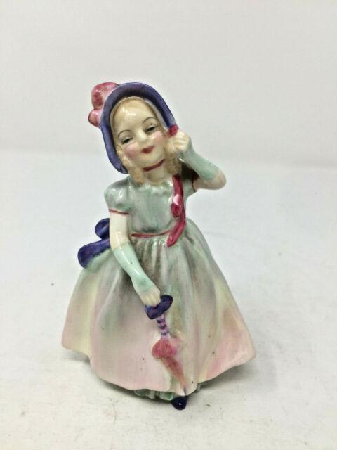 Royal Doulton Bone China Girl Figurine w/Umbrella HN1679 Babie