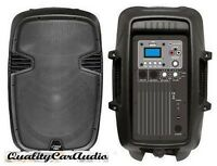 Pyle Pphp803mu 8 600w Powered 2-way Pa Speaker Usb Input & Aux For Ipod/mp3