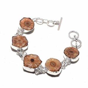 Solar-Quartz-Druzy-Ethnic-Jewelry-Handmade-Bracelet-29-Gms-BB-330