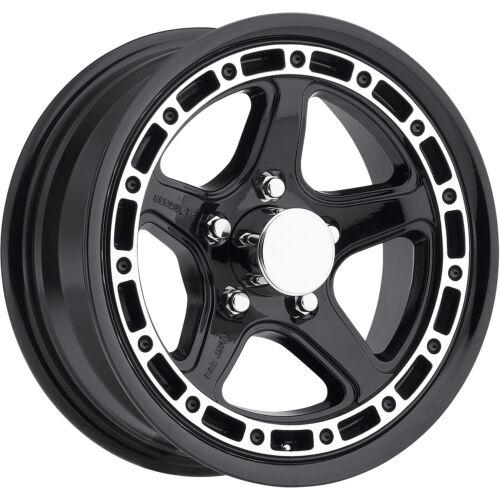 """QTY 5 14/"""" SENDEL T11 5-Lug Boat CAMPER RV Trailer Wheel Rim Black Machined!!!"""