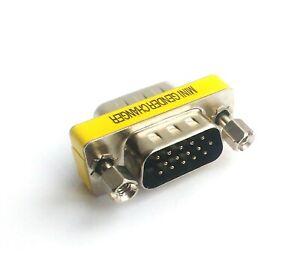 S-VGA Mini Gender-Changer HD 15pol Sub-D Stecker Monitor-Adapter Kabel-Verbinder