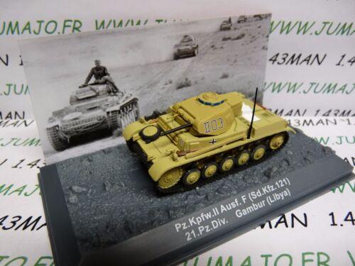PZ20U Tank militaire 1//72 PANZER n°20 Pz Kpfw II  SdKfz 121 21 Pz div Lybie