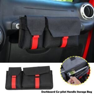 Interior Co-Pilot Side Sundries Storage Bag Organizer For Jeep Wrangler TJ JK JL